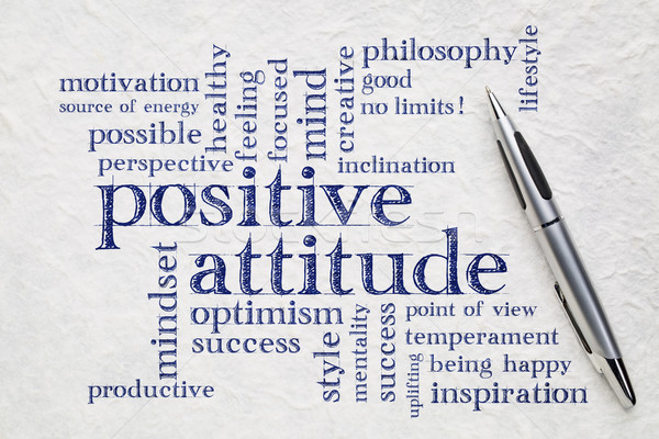 positive attitude word cloud Stock photo © PixelsAway