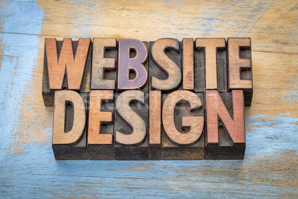 Progettazione di siti web parola abstract legno tipo vintage Foto d'archivio © PixelsAway