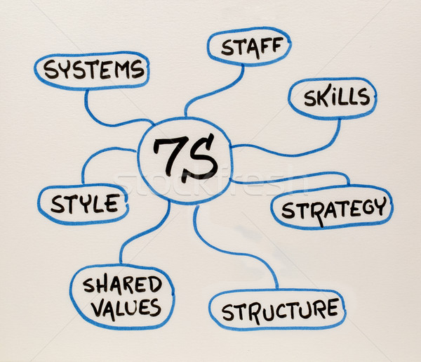 7S - organizational culture, analysis and development concept Stock photo © PixelsAway