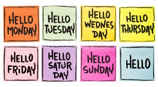 Hello Monday, Tuesday, Wednesday, ... Stock photo © PixelsAway