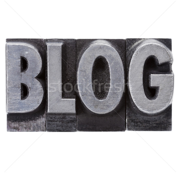 blog word in grunge metal type Stock photo © PixelsAway