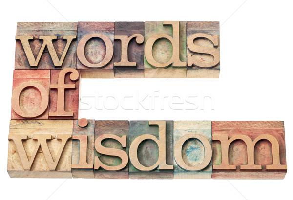 Szavak bölcsesség izolált szöveg klasszikus magasnyomás Stock fotó © PixelsAway