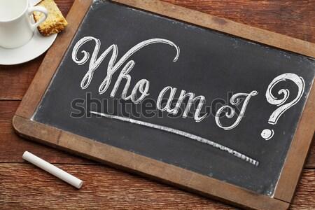 blank slate blackboard Stock photo © PixelsAway