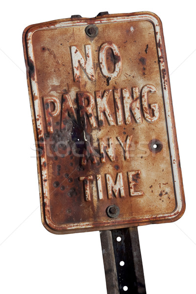 rusty no parking sign Stock photo © PixelsAway