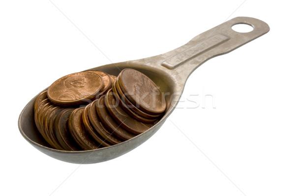 Ingrediënten geld recept geïsoleerd witte Stockfoto © PixelsAway