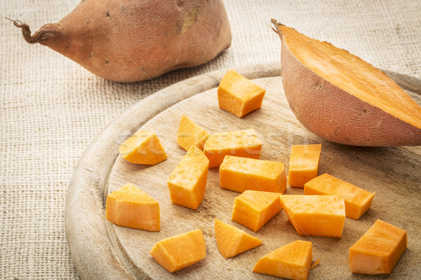 Patata dolce taglio tagliere cottura vegetali ingrediente Foto d'archivio © PixelsAway