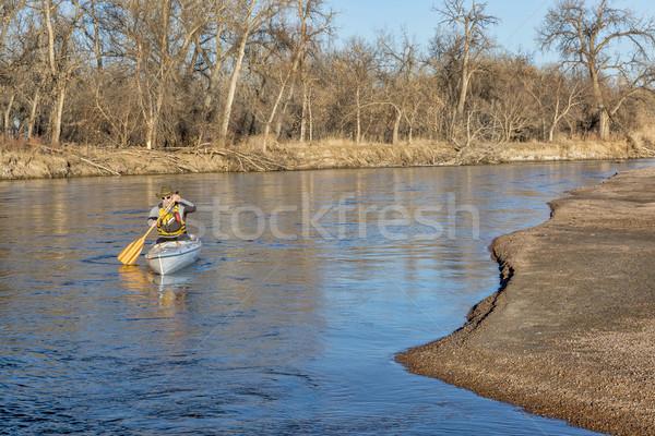 canoe paddling on South Platte RIver Stock photo © PixelsAway