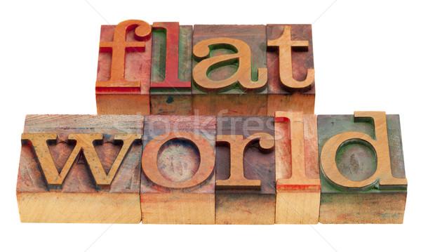 世界 グローバル化 単語 ヴィンテージ 木製 ストックフォト © PixelsAway