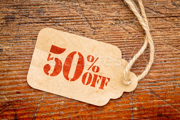 fifty percent off discount -  paper price tag  Stock photo © PixelsAway