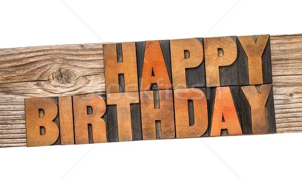 Happy Birthday greeting card Stock photo © PixelsAway