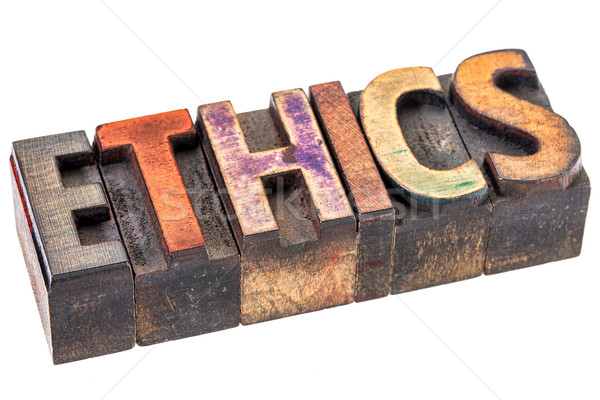 ethics word in vintage wood type Stock photo © PixelsAway