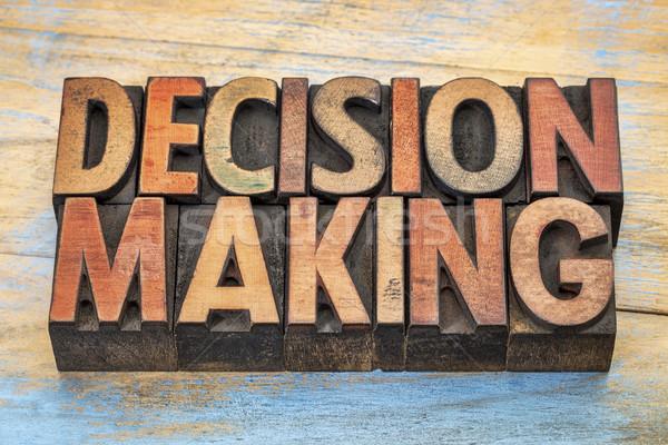La toma de decisiones palabras madera tipo palabra resumen Foto stock © PixelsAway