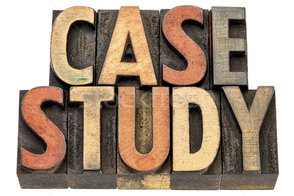 case study words in wood type Stock photo © PixelsAway