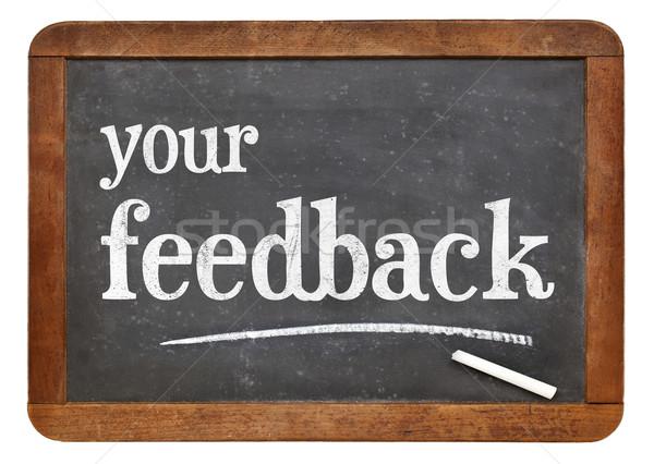your feedback blackboard sign Stock photo © PixelsAway