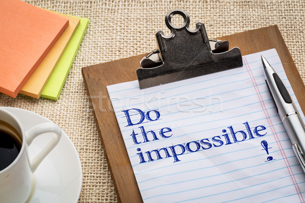 Do the impossible - clipboard Stock photo © PixelsAway