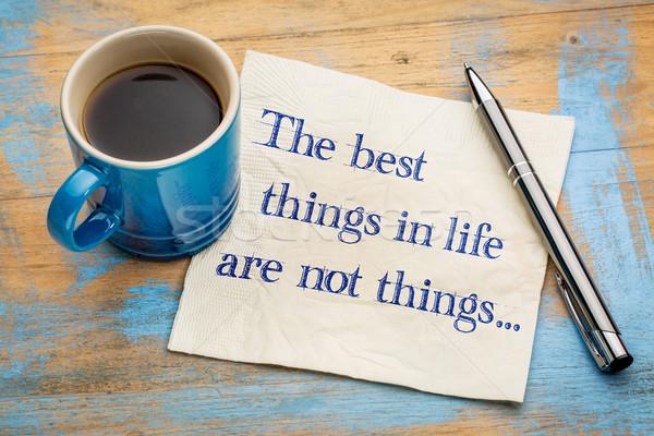 O melhor coisas vida não letra guardanapo Foto stock © PixelsAway