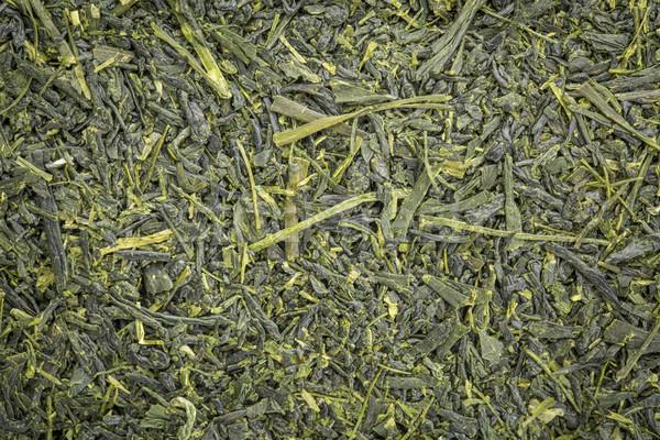 Chá verde textura de fundo solto folha textura japonês Foto stock © PixelsAway