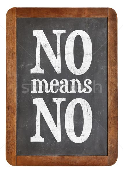 Pas slogan tableau noir communication blanche craie Photo stock © PixelsAway