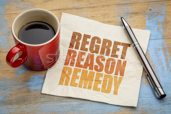 regret, reason, remedy word abstract Stock photo © PixelsAway
