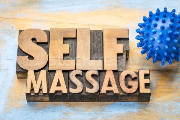 spiky self massage concept Stock photo © PixelsAway