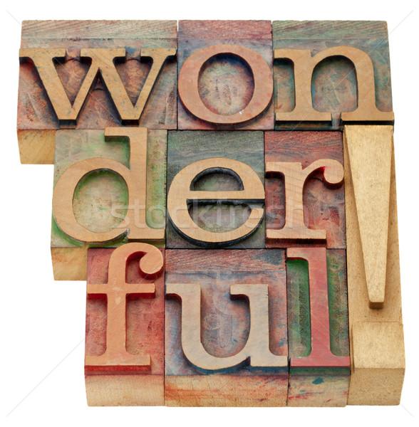 Maravilloso aislado palabra vintage madera Foto stock © PixelsAway