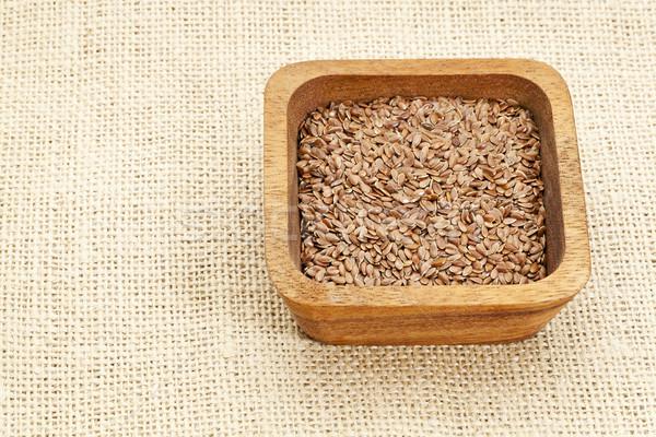 brown flax seeds Stock photo © PixelsAway