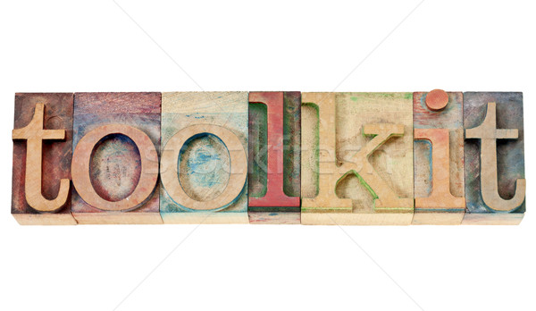 toolkit word in wood type Stock photo © PixelsAway