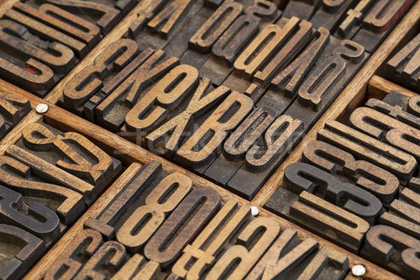 lettepress wood type blocks Stock photo © PixelsAway