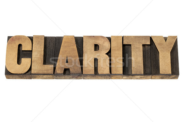 clarity in wood type Stock photo © PixelsAway