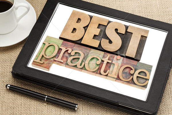 best practice on digital tablet Stock photo © PixelsAway