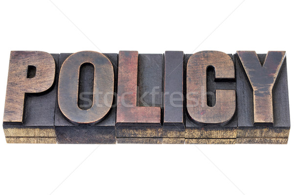 policy word in wood type Stock photo © PixelsAway