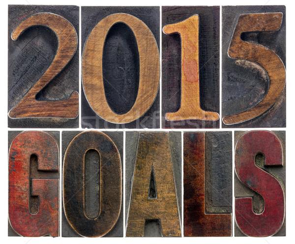 2015 goals in wood type Stock photo © PixelsAway