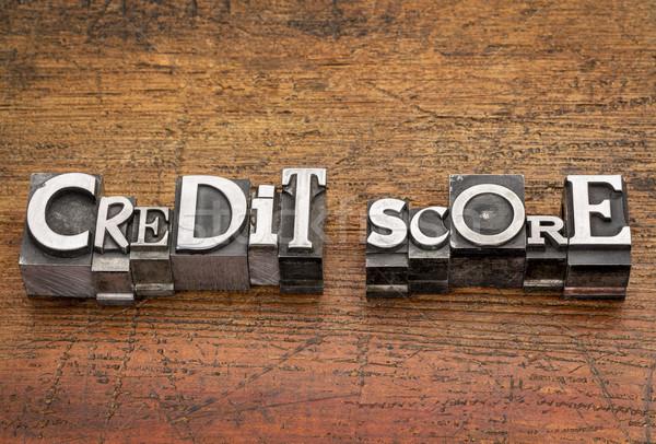 Stock photo: credit score in metal type