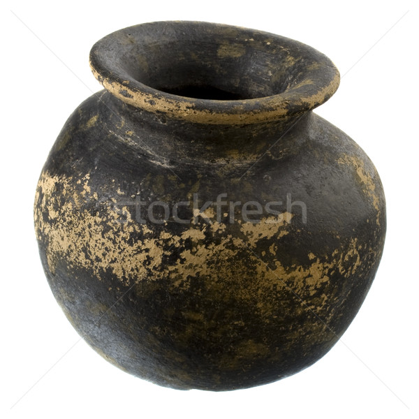 black and brown clay plant pot Stock photo © PixelsAway