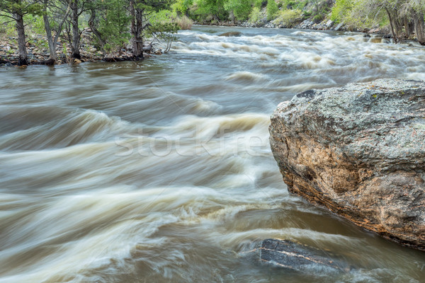 Poudre River at spring run off Stock photo © PixelsAway