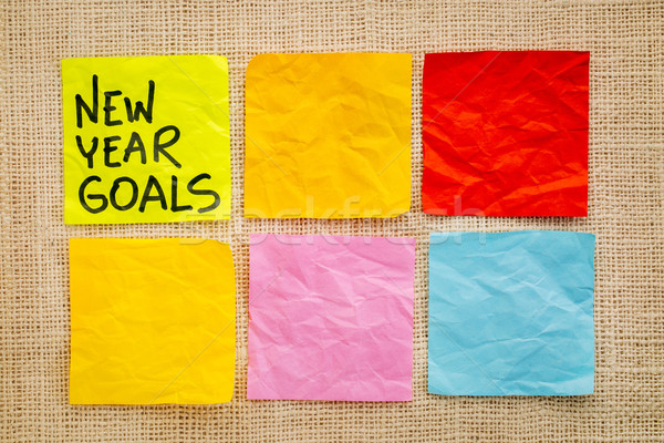 New Year goals on sticky notes Stock photo © PixelsAway