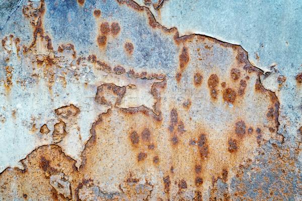 グランジ 描いた 金属の質感 青 車 ストックフォト © PixelsAway