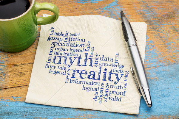 myth and reality word cloud Stock photo © PixelsAway