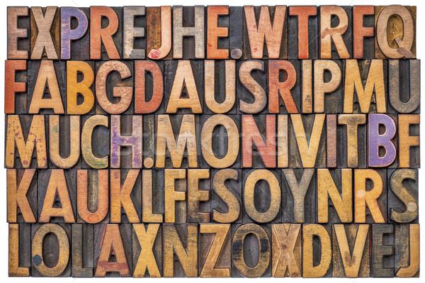 alphabet abstract in letterpress wood type Stock photo © PixelsAway