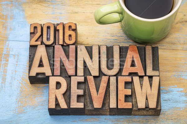2016 annual review in wood type Stock photo © PixelsAway