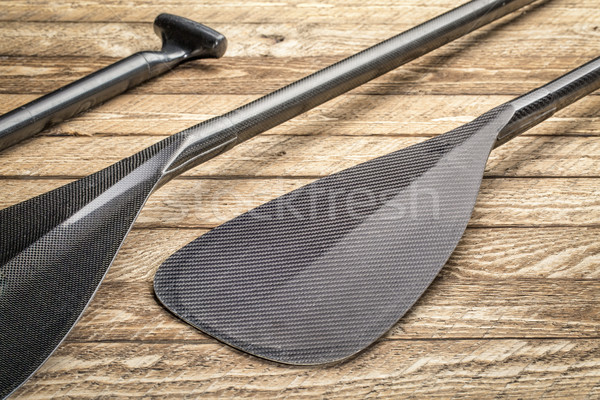 carbon fiber canoe or SUP paddles  Stock photo © PixelsAway