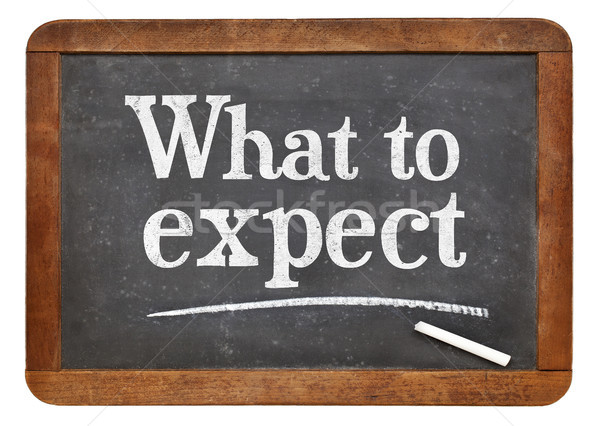 What to expect blackboard sign Stock photo © PixelsAway