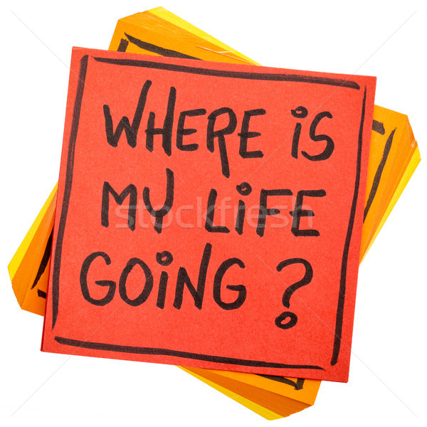 where is my life going question Stock photo © PixelsAway