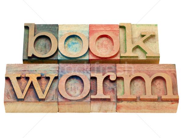 bookworm in letterpress type Stock photo © PixelsAway