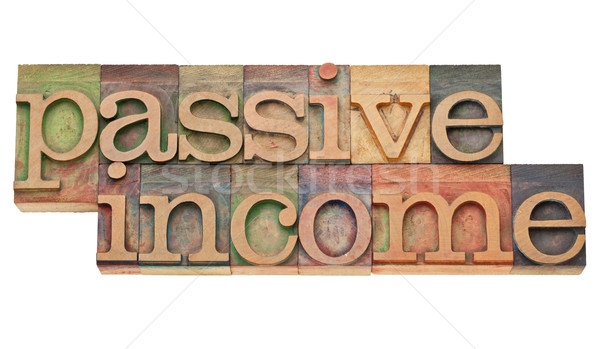 受動 収入 金融 孤立した 文字 ヴィンテージ ストックフォト © PixelsAway