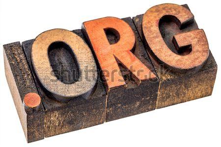 login word in wood type Stock photo © PixelsAway