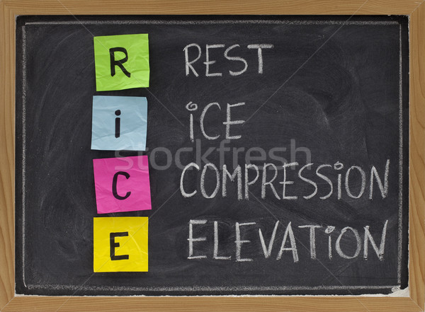 Rest, Ice, Compression, Elevation - medical acronym Stock photo © PixelsAway
