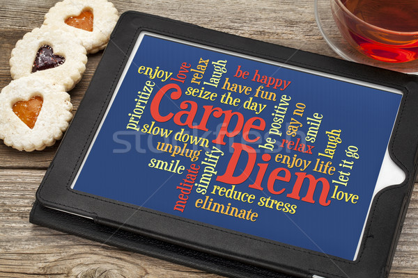 Carpe DIem word cloud Stock photo © PixelsAway