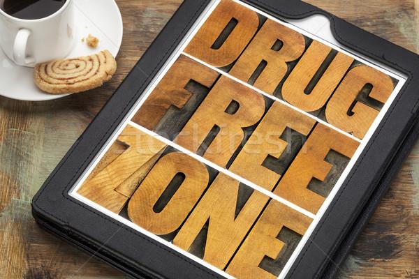drug free zone in wood type Stock photo © PixelsAway