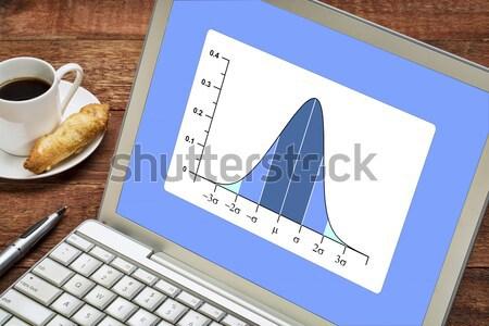 Bel laptop statistiek analyse drie Stockfoto © PixelsAway